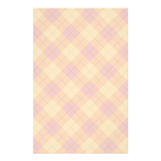 Bias Plaid in Orange and Pink Stationery Design