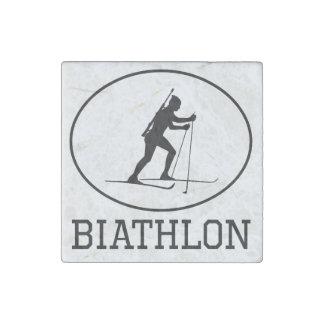 Biathlon Stone Magnet