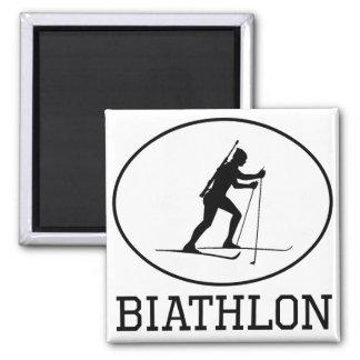 Biathlon 2 Inch Square Magnet