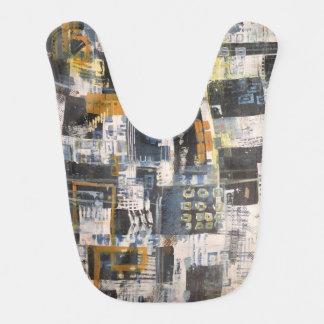 Bib that hides most everything. Abstract Art