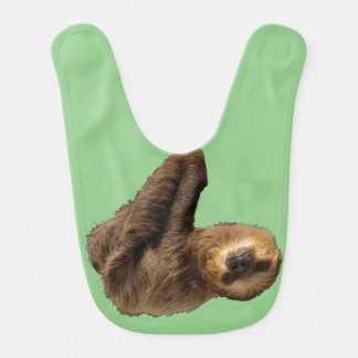 Bib with sloth hanging on