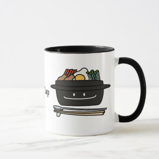 Bibimbap Korean rice bowl namul vegetables egg Mug