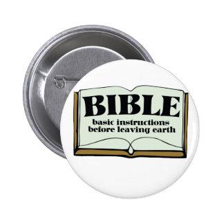 BIBLE 6 CM ROUND BADGE