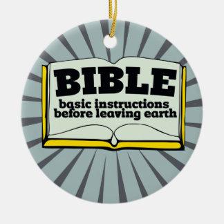 Bible - basic instructions round ceramic decoration