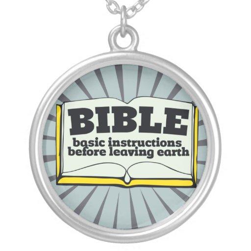 Bible - basic instructions custom necklace