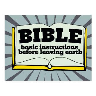 Bible - basic instructions postcard