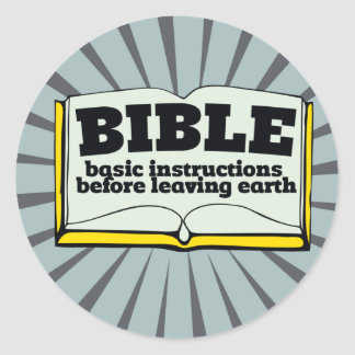 Bible - basic instructions classic round sticker