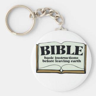 BIBLE BASIC ROUND BUTTON KEY RING