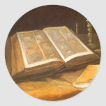 Bible by Vincent van Gogh, Vintage Impressionism Stickers