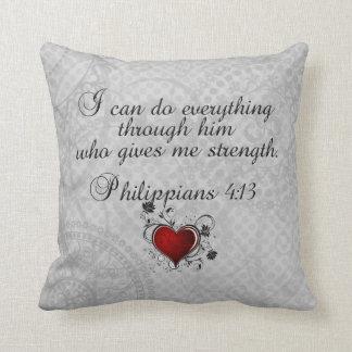 Bible Christian Verse Philippians 4:13 Cushion