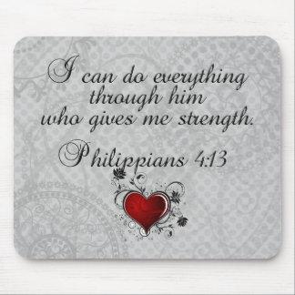 Bible Christian Verse Philippians 4:13 Mouse Mat