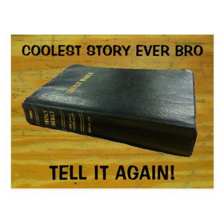 Bible, Cool Story Bro Postcard