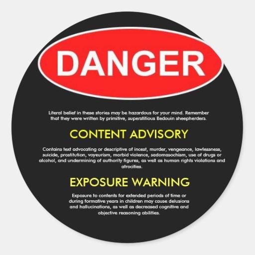 Bible Danger Sticker