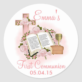 Bible First Communion Stickers - Envelope Seals