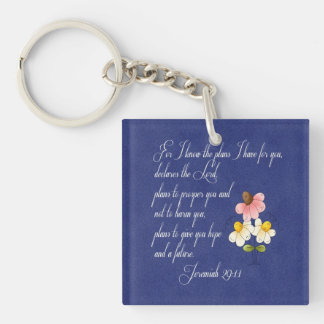 Bible Inspirational Verse  Jeremiah 29:11 Key Ring