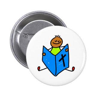 Bible Kid 6 Cm Round Badge