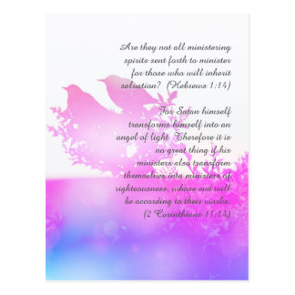 Bible passage, birds postcard