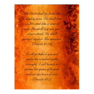 Bible passage, brown grunge florals postcard