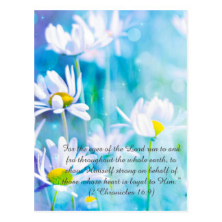 Bible passage, dreamy daisies postcard