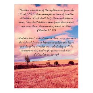 Bible passage, dreamy land postcard