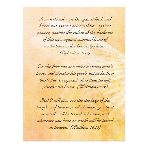 Bible passage, grunge wings post card