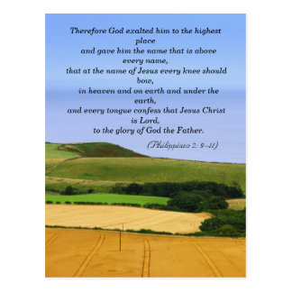 Bible passage, landscape postcard