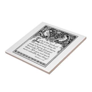 Bible Passage: Matthew 6:26 Ceramic Tile