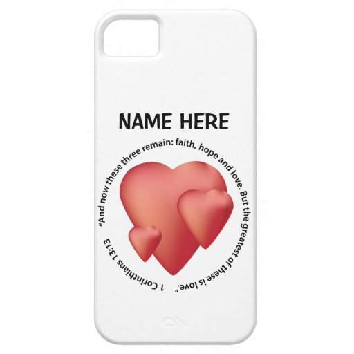 Bible Passage Valentine Phone Case iPhone 5 Covers