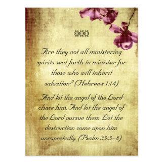 Bible passages angels postcard