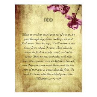 Bible passages postcard