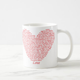 Bible Quote 1 Corinthians 13 Love Heart Art Design Coffee Mug