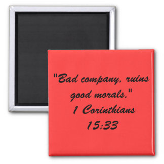Bible Quote Mag Square Magnet
