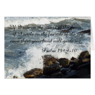 Bible quote Psalm 139:9-10 card