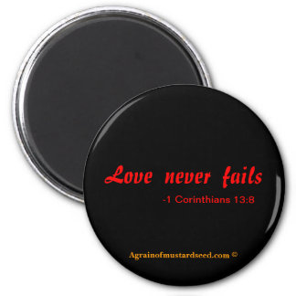 Bible Quotes 6 Cm Round Magnet