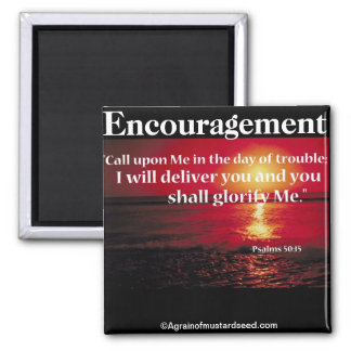 Bible Quotes Inspirational Square Magnet