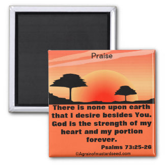 Bible Quotes Inspirational Refrigerator Magnet