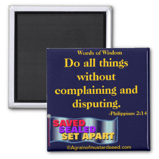 Bible Quotes Inspirational Fridge Magnet