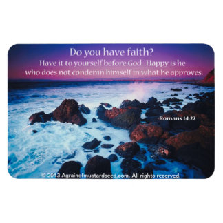 Bible Quotes Inspirational Rectangle Magnet
