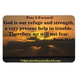 Bible Quotes Inspirational Rectangular Photo Magnet
