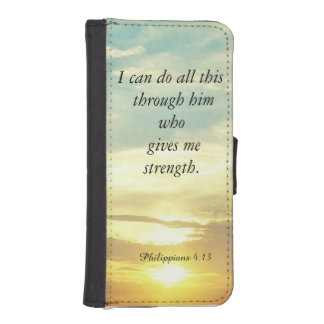 Bible quotes Philippians 4:13 wallet case