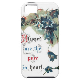 Bible Saying With Flowers Tough iPhone 5 Case
