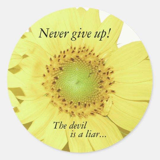 Bible Scripture Christian Inspiration Classic Round Sticker