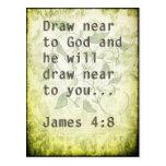 Bible scripture quote vintage grunge postcard