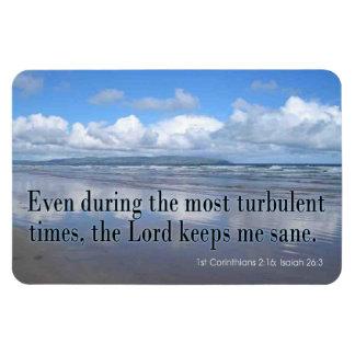 Bible Scriptures - Inspirational Christian Rectangular Photo Magnet