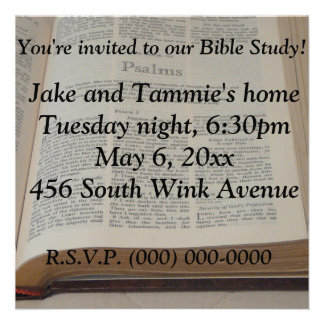 Bible Study Custom Invitation