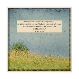Bible Text on beautiful wooden canvas Wood Wall Decor