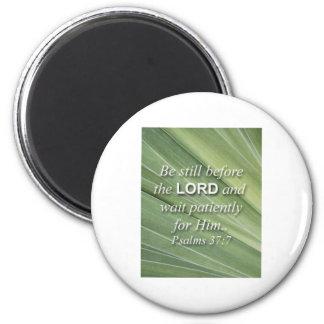 bible verse 6 cm round magnet