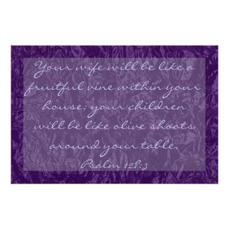 bible verse about family Psalm 128:3 Poster