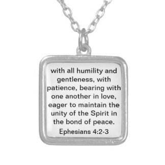 Bible Verse About Love for Marriage or Wedding Square Pendant Necklace