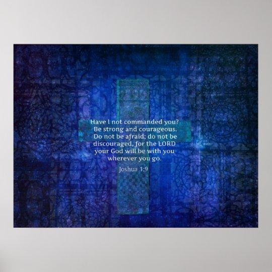 Bible Verse About Strength CROSS ART Poster